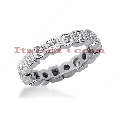 18K Gold Diamond Eternity Band 1.44ct