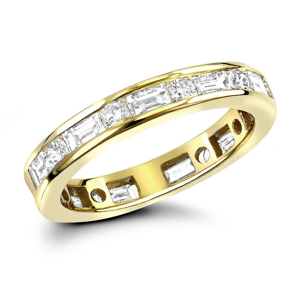 18K Gold Diamond Eternity Band 1.56ct Yellow Image
