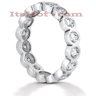 18K Gold Diamond Eternity Band 1.60ct