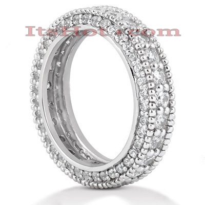 18K Gold Diamond Eternity Band 2.06ct