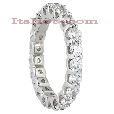 Thin 18K Gold Diamond Eternity Band 2.10ct Main Image