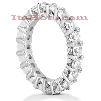 Thin 18K Gold Diamond Eternity Band 3.10ct Main Image