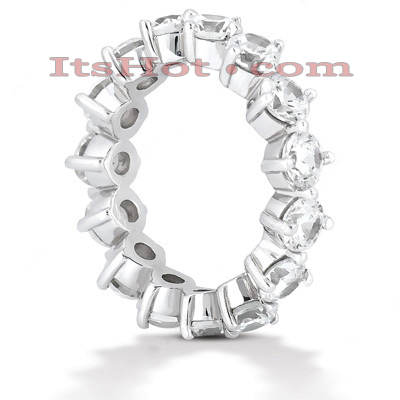 18K Gold Diamond Eternity Band 3.75ct Main Image