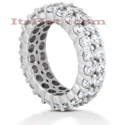 18K Gold Diamond Eternity Band 4.40ct Main Image
