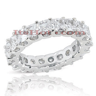 18K Gold Diamond Eternity Band 5.40ct