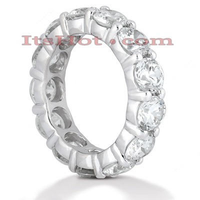 18K Gold Diamond Eternity Band 5.85ct Main Image