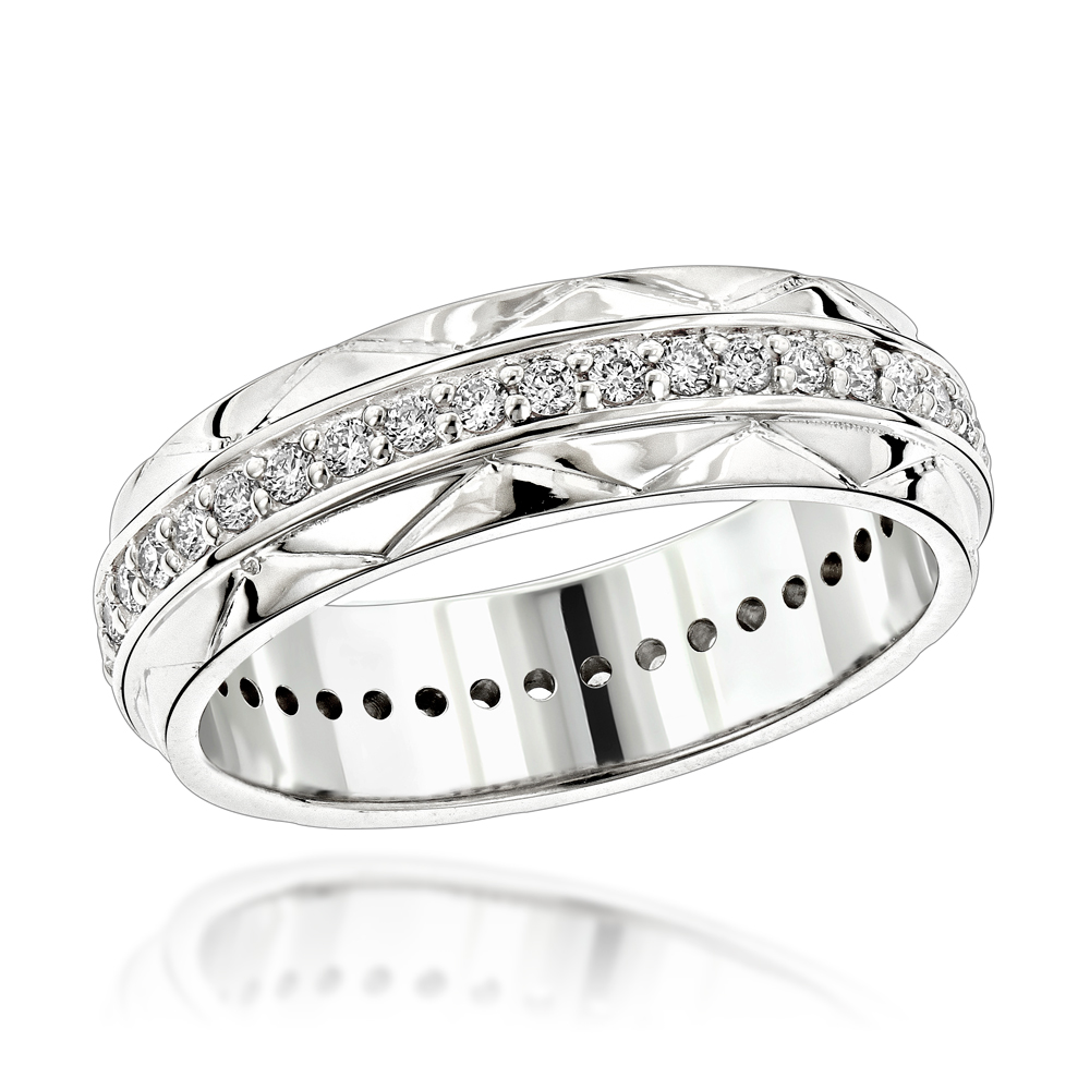 18K Gold Diamond Eternity Bands Collection Item 0.58ct White Image