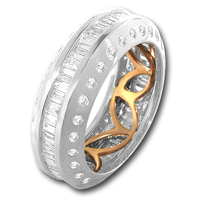 18K Gold Diamond Eternity Bands Collection Item 1.84ct Main Image