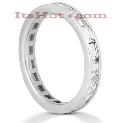 Thin 18K Gold Diamond Eternity Ring 1.60ct