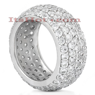 18K Gold Diamond Eternity Ring 4.68ct