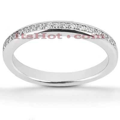 Thin 18K Gold Diamond Wedding Band 0.17ct Main Image