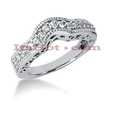 18K Gold Diamond Wedding Band 0.32ct