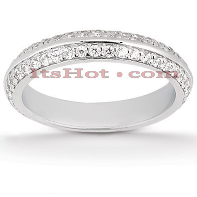 Thin 18K Gold Diamond Wedding Band 0.41ct Main Image