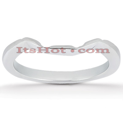Ultra Thin 18K Gold Engagement Ring Band 1.2mm Main Image