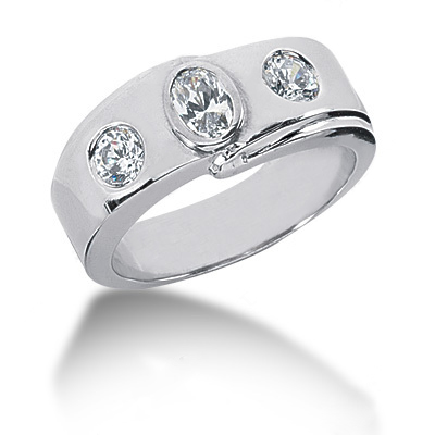 18K Gold Ladies Diamond Ring 0.73ct Main Image