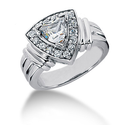 18K Gold Ladies Diamond Ring 0.76ct Main Image