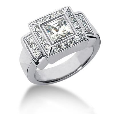 18K Gold Ladies Diamond Ring 1.39ct Main Image