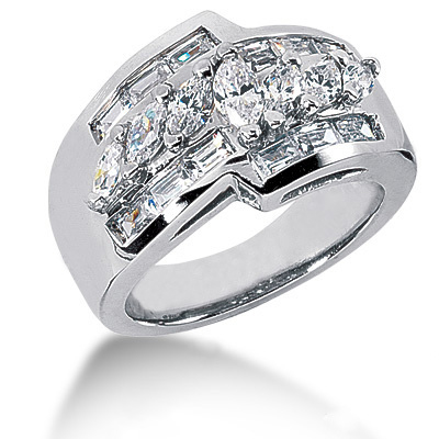 18K Gold Ladies Diamond Ring 1.90ct Main Image