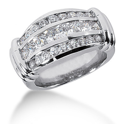 18K Gold Ladies Diamond Ring 2.09ct Main Image