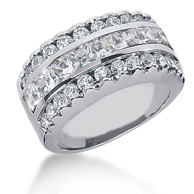 18K Gold Ladies Diamond Ring 2.90ct Main Image