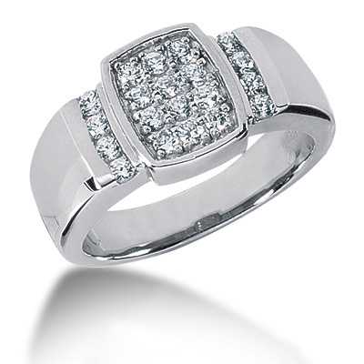 18K Gold Men's Diamond Ring 0.80ct Main Image