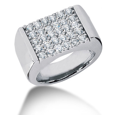 18K Gold Men's Diamond Ring 1.50ct Main Image