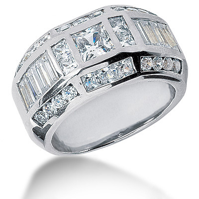 Statement Rings 18K Gold Mens Diamond Ring 3.53ct Main Image