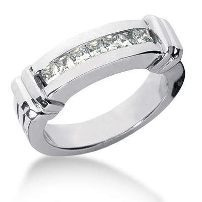 18K Gold Men's Diamond Wedding Band 0.98ct Main Image