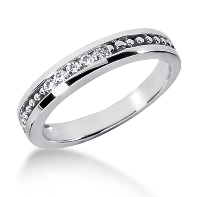 18K Gold Men's Diamond Wedding Ring 0.25ct Main Image