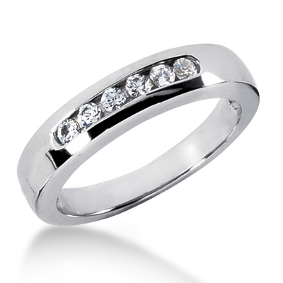 18K Gold Men's Diamond Wedding Ring 0.30ct Main Image