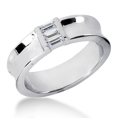 18K Gold Men's Diamond Wedding Ring 0.36ct Main Image