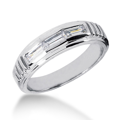18K Gold Men's Diamond Wedding Ring 0.54ct Main Image