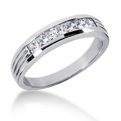 18K Gold Men's Diamond Wedding Ring 0.70ct Main Image