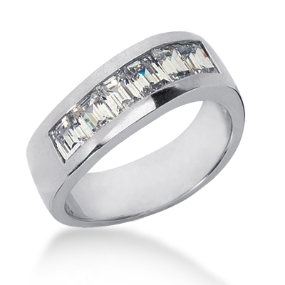 18K Gold Men's Diamond Wedding Ring 1.98ct Main Image