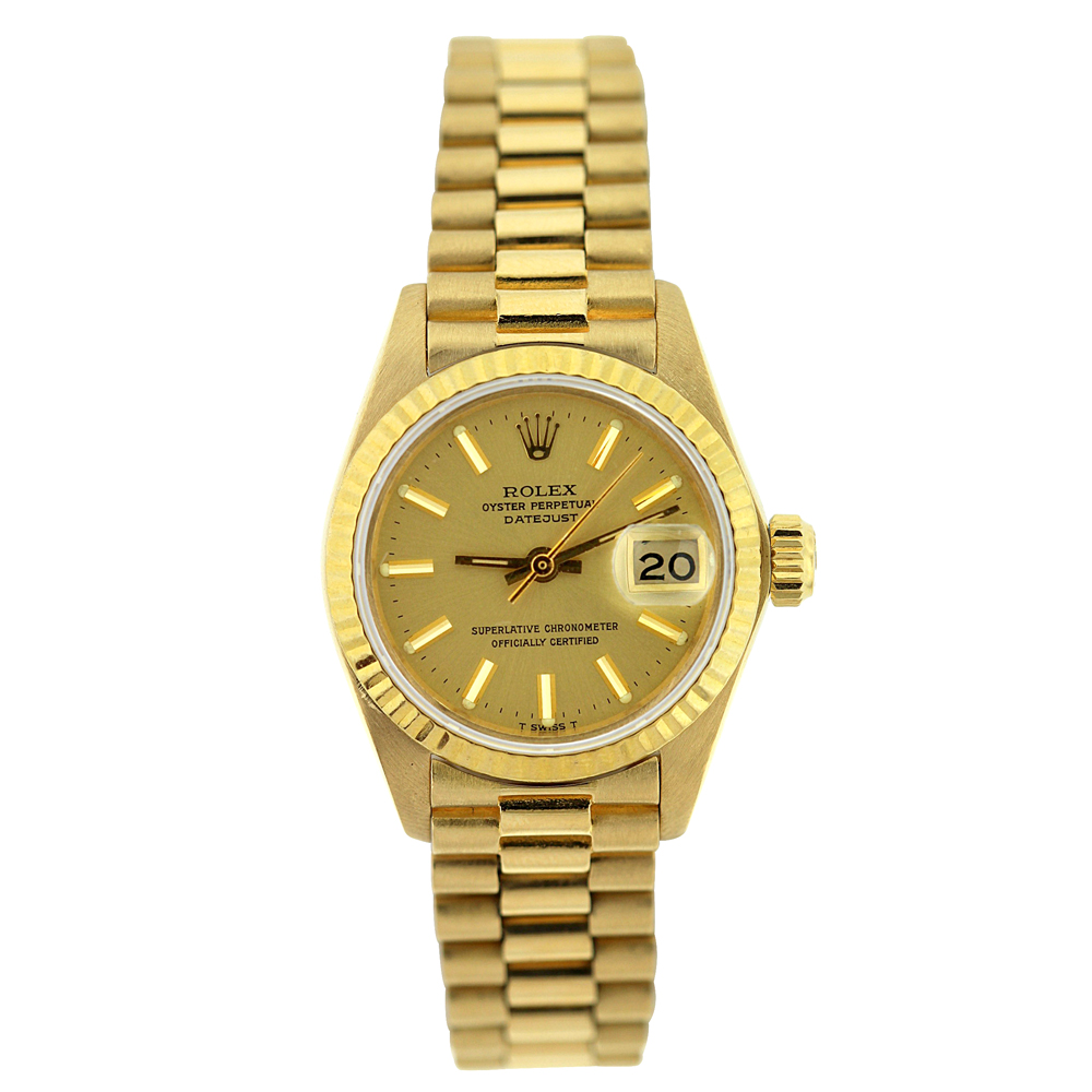 18K Gold Rolex Presidential Datejust Ladies Watch Main Image