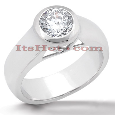 18K Gold Round Diamond Engagement Ring 0.75ct 4.50mm Main Image