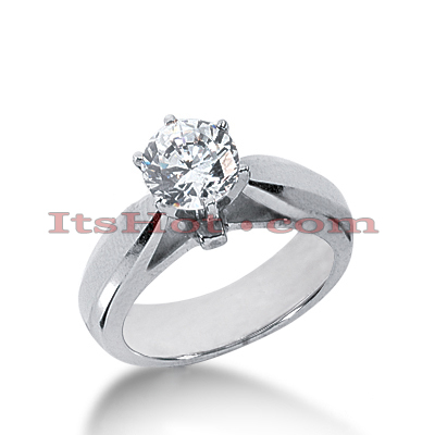 18K Gold Round Diamond Engagement Ring 0.75ct Main Image
