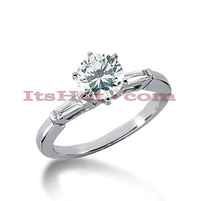 18K Gold Round Diamond Engagement Ring 0.89ct Main Image