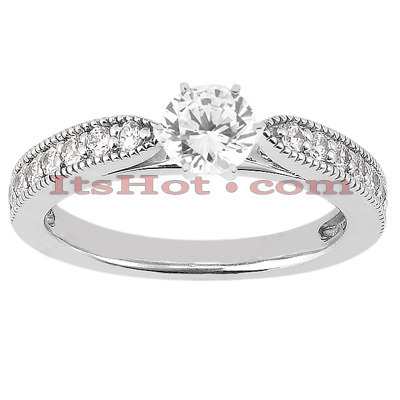 18K Gold Round Diamond Engagement Ring 0.93ct Main Image