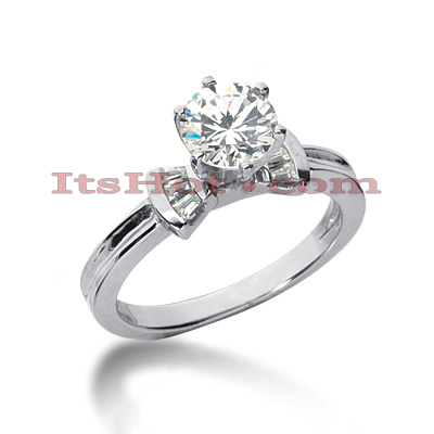 18K Gold Round Diamond Engagement Ring 0.99ct Main Image