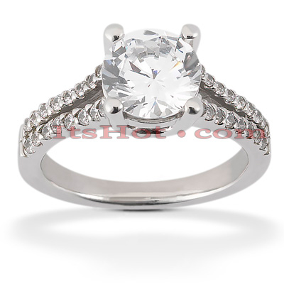 18K Gold Round Diamond Engagement Ring 1.02ct Main Image