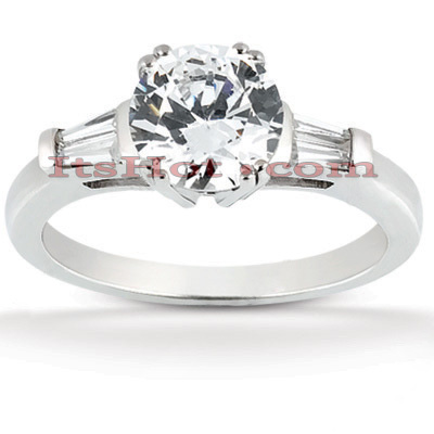 18K Gold Round Diamond Engagement Ring 1.03ct Main Image