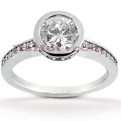 18K Gold Round Diamond Engagement Ring 1.05ct Main Image