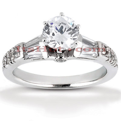 18K Gold Round Diamond Engagement Ring 1.08ct Main Image