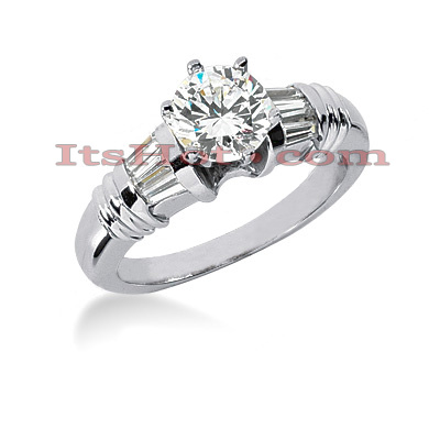 18K Gold Round Diamond Engagement Ring 1.17ct Main Image