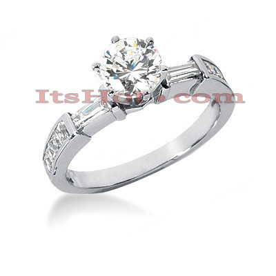 18K Gold Round Diamond Engagement Ring 1.43ct Main Image