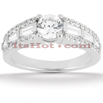 18K Gold Round Diamond Engagement Ring 1.63ct Main Image