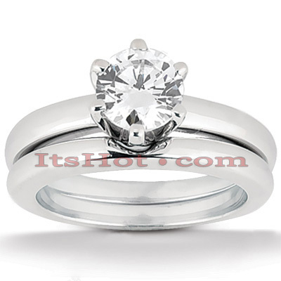 18K Gold Round Diamond Engagement Ring Set 0.75ct Main Image