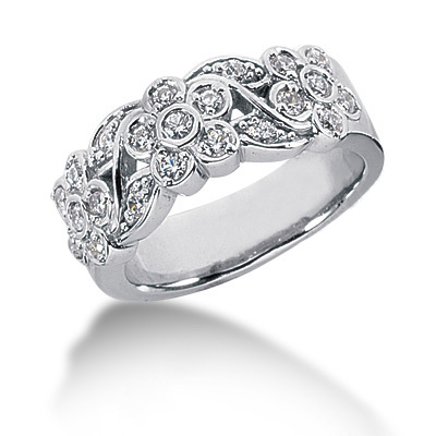 18K Gold Round Diamond Ladies Ring 0.39ct Main Image