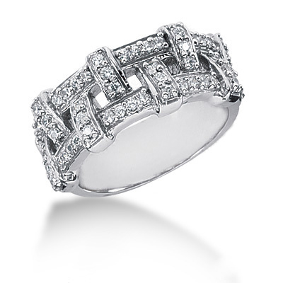 18K Gold Round Diamond Ladies Ring 0.52ct Main Image